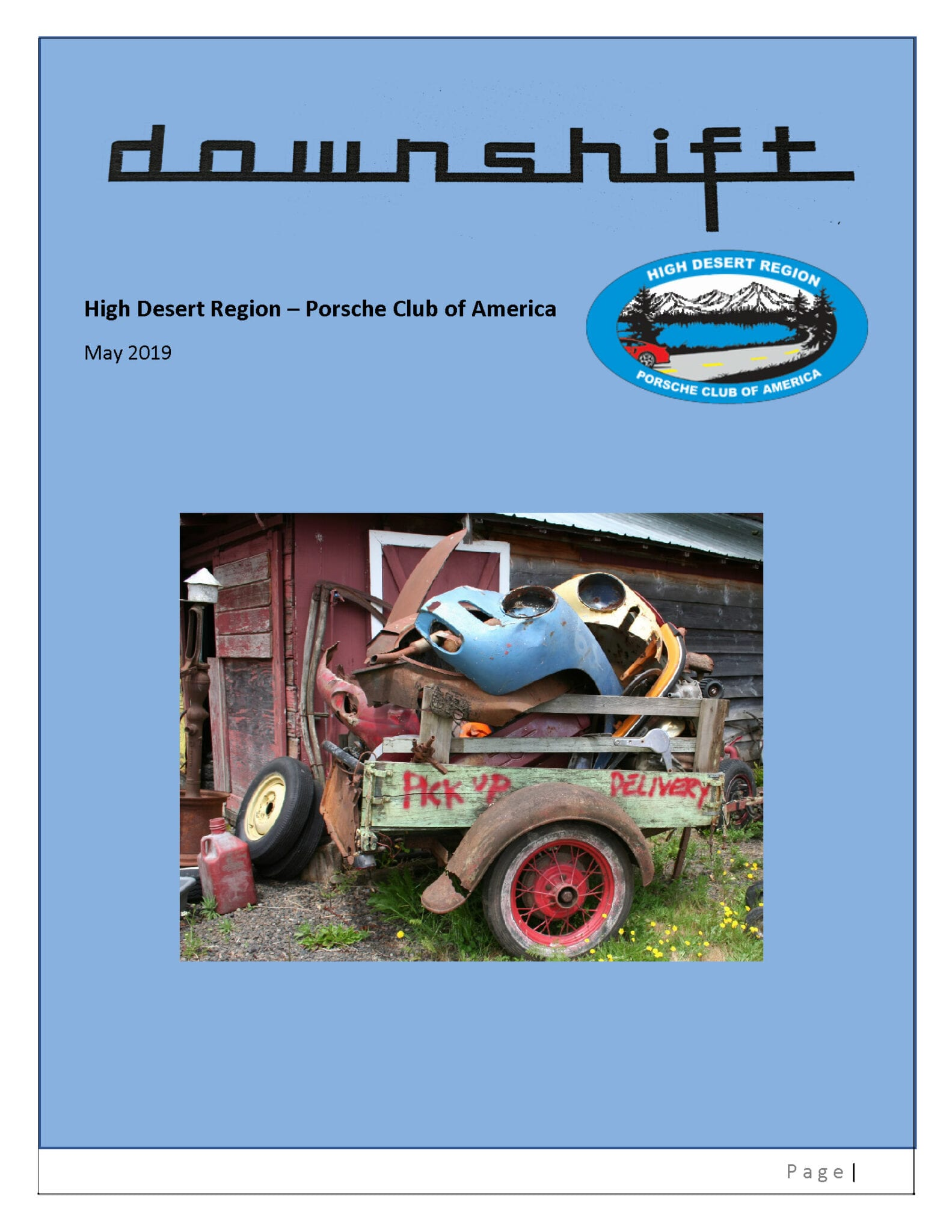 Downshift, the Newsletter of the High Desert Region Porsche Club